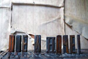 Antique 19thC Alphabet Tray of Wooden Letterpress Printing Blocks c.1895