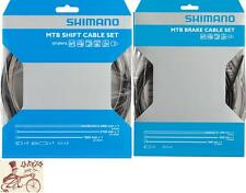 SHIMANO MTB STAINLESS BLACK BRAKE SHIFTER DERAILLIEUR BIKE CABLE KIT W/ HOUSING