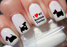 Scottish Terrier Nail Art Stickers Transfers Decals Set of 50