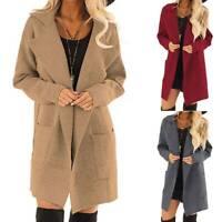 Womens Winter Warm Wool Lapel Long Coats Trench Jacket Parka Overcoat Outwear