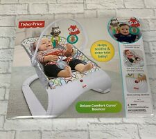 Brand New Fisher Price Deluxe Comfort Curve Vibrating Bouncer Newborn Baby Chair