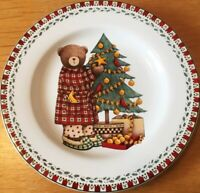 Sakura Collectable Christmas Plate Debbie Mumm 1998 - Christmas Bears & Tree