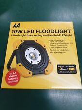 AA 10W LED FLOODLIGHT ULTRA BRIGHT FREESTANDING & HANDHELD LED LIGHT 500 LUMEN