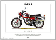 Suzuki T20-Motocicleta Fine Art Print 250cc 2 Tiempos Twin Super-six Hustler X6