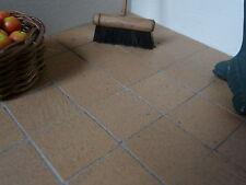 """25 SQ INS Real Brick 3/4"""" Gault/Crème miniature maison de poupées floor tiles"""