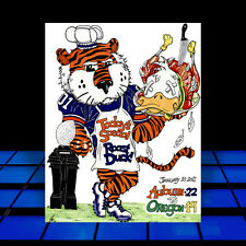 New AUBURN TIGERS in football jersey 2010 NATIONAL CHAMPS BCS ART, artist signed