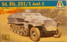 Italeri 1/72 Sd Kfz 251/1 Ausf C WWII Half Track 7009