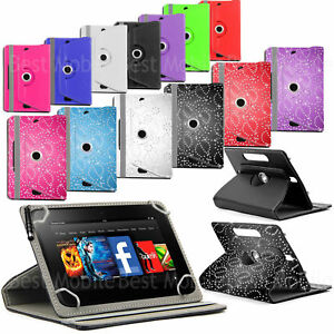 "°New Rotating Folio Leather Case Cover For Android Tablet PC 7"" 8"" 9"" 9.7"" 10.1"""