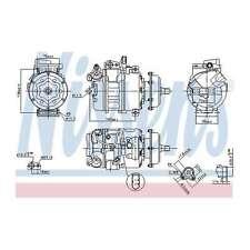Fits VW Touareg 7L7 3.0 V6 TDI Genuine OE Quality Nissens A/C Air Con Compressor
