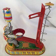 RARE Post WW II US Zone-Germany Tin Wind up Performing Elephant Mint Tin Litho a