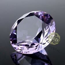 30mm Purple Glass Cut Crystal Diamond Paperweight Wedding Favor Party Decor Gift