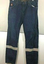 Wrangler FR Mens  Denim Jeans High Visibility Reflective Strips 36W 34L