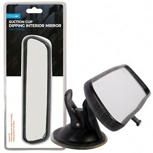 Dipping Interior Wide Angle Rear View Mirror Suction Learner Instructor 21x5cm