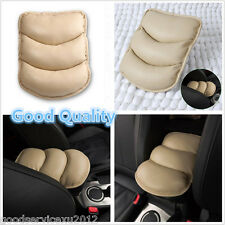 Practical Beige Imitation Leather Vehicle Center Armrest Arm Rest Cozy Pad Cover(Fits: Cadillac Catera)