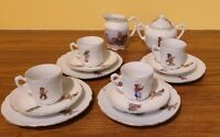 Antique Child's Tea set 14 Pieces GERMANY Service for 4 Cream Sugar Germany 77