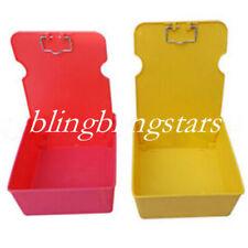 7 Pcs Dental Lab Plastic Pans Working Case Clip Holder Dentist Supply 7 Colors