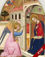 THE ANNUNCIATION TO MARY PAINTING CHRISTIAN BIBLE ART REAL CANVAS PRINT