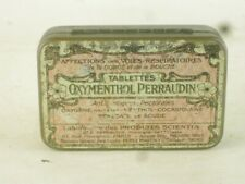 43529 Old Vintage Antique Tin Can Chemist Cocaine Drug vieille boîte médicale