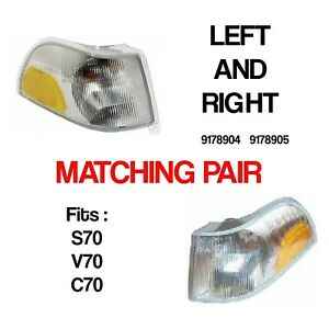 VOLVO S70 XC70 V70 corner parking turn signal lamp PAIR LH RH 9178904 9178905