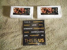 Justin Hartley THIS IS US official promo set of Tissues and Magnets NBC TV show