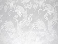 China Drache weiß Gardinenstoff Dekostoff Meterware 144 cm breit