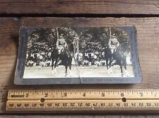 Stereograph Cards Cavalry Mounted General Pershing Antique