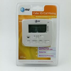 AT&T Caller ID/Call Waiting Model #436 Dove Gray 90 Name/Number Caller ID