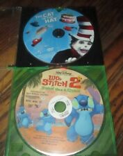 LOT of 2 DVD Kid's Movies - The Cat In the Hat, Lilo & Stitch 2 -Disc Only