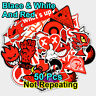 50pcs Cool RED Stickers Graffiti Bomb -  Waterproof Vinyl Decal - non repeat