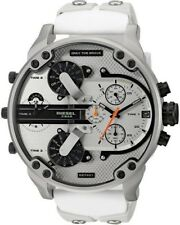 NEW DIESEL MR DADDY 2.0 CHRONOGRAPH WHITE  MULTIPLE TIME ZONE MENS WATCH DZ7401