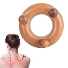 Wood Body Reflexology Acupuncture Shiatsu Massager Roller Therapy Meridians UK