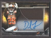 2015 Topps Strata Clear Cut Rookie Relic Auto CCAP-DJ Duke Johnson Jersey Browns