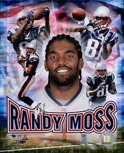 Randy Moss New England Patriots NFL Licensed Unsigned Glossy 8x10 Photo G
