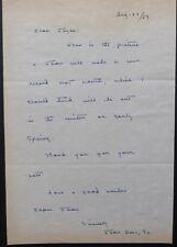JOAN BAEZ SR signed letter '69,from the famous singer's mother