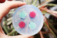 Clear handmade Silicone Mold Tunnel Ear Plug Piercing, 2 pair.Size12mm,14mm.A81!