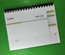 Canon EOS M50 Camera 96 Page COLOR LASER PRINTED Owners Manual Guide
