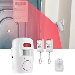With 2 Remote Controls Alarm Sensor Wireless PIR Motion Sensor No Batteries Uk
