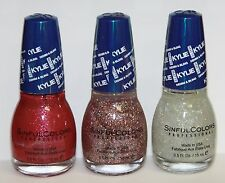 SINFUL COLORS Nail Polish BLING COLLECTION Kylie Jenner 3 Pcs.