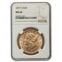 1877-S $20 Liberty Gold Double Eagle MS-60 NGC - SKU#157323