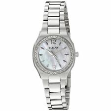Bulova 96R199 Women's Diamond Silver-Tone Quartz Watch