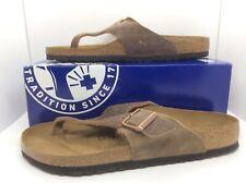 BIRKENSTOCK Men Como Tabacco Leather Slides Sandal Shoes Sz 11 EU44 ZB6-534