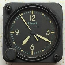 Waltham 22809 9 Jewel A-11 Aircraft Clock Green Numbers And Yellow Hands