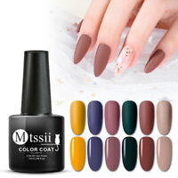 MTSSII 7ml UV LED Matte Color Gel Nail Polish Soak Off Varnish Nail Art Manicure