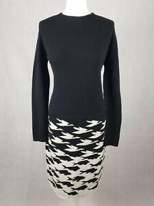 Bnwt Rumour London Size L/14 Merino Wool Jumper Dress Sea & Sky Knitted Jacquard