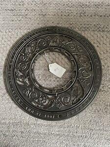 Lot 4 Antique Round Cast Iron Floor Stove Grill Grate 2 Piece