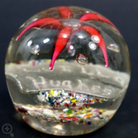 Murano glass paperweight italian art blown glass A LETTER WITH DEDICATION