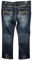 Cowgirl Tuff Womens Don't Fence Me In West Bootcut Jeans Size 32 X 31