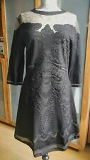 Alberta Ferretti embroidered A-line black cocktail dress size IT46/UK12-14
