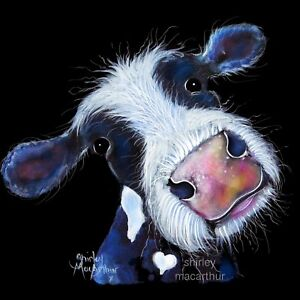 COW PRINTS ART of Original Painting NoSeY BERTHA BEETROOT by SHIRLEY MACARTHUR