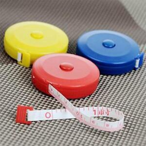 3 x Measuring Tapes 150cm length - Retractable - 3 Colors total